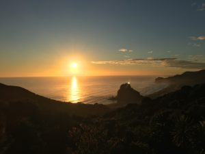 Sunset over Piha's Lion Rock